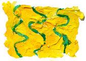 Pa abstracta de arte Embadurnamiento acuarela ornamento verde amarilla fondo — Foto de Stock