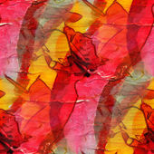 Background watercolor art red yellow seamless texture abstract b — Stock Photo