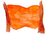 Watercolor table orange background abstract paper art daub text — Stock Photo