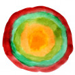 Watercolor round red green yellow isolated on white for your des - Stock fotografie