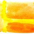 Watercolor yellow isolated on white for your design - Stock Photo