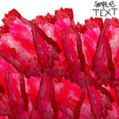 Background art hand watercolour red brush texture isolated — Stock Photo