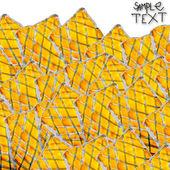 Pozadí umění rukou žlutá černá akvarel štětce textury isola — Stock fotografie