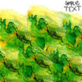 Background hand art watercolor green brush texture isolated — Stock Photo