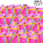 Tło strony szary akwarela różowy szczotka tekstura na białym tle — Zdjęcie stockowe