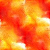 Aquarelle abstraite et art orange jaune main texture transparente, — Photo