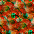 Foto de Stock  : Background red, green watercolor art seamless texture abstract b