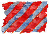 Art blue, red, stripes watercolor isolated for your design — Stock Photo
