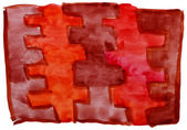Art brown, red, vanguard watercolor isolated for your design — Stock Photo