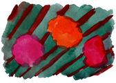 Art green orange vanguard watercolor isolated for your design — Stock Photo