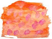 Sztuka pomarańczowy czerwona plama, akwarela na białym tle projekt — Zdjęcie stockowe