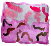 Art red purple vanguard watercolor isolated for your design — Stock Photo