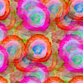 Grunge texture, watercolor colorful circle seamless background d — Stock Photo