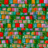 Grunge texture, watercolor green red seamless background drawn b — Stock Photo