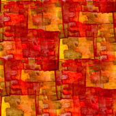 Grunge texture, watercolor red yellow seamless background drawn — Stock Photo