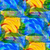 Grunge textuur, aquarel naadloze blauw groen geel band backg — Stockfoto