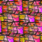 Grunge texture, watercolor seamless yellow pink black band backg — Stock Photo