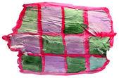 Table green, purple, net chart stroke paint brush watercolor iso — Stock Photo