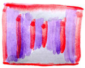 Table red, purple chart stroke paint brush watercolor isolated — Stock Photo