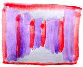Tabellen röda, lila diagram stroke färg pensel akvarell isolerade — Stockfoto