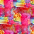 Stock Photo: Grunge band pink, blue, yellow, vanguard texture watercolor seam