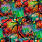 Zelená, červená, ozdoba grungeové kapely textury akvarel bezešvé, ba — Stock fotografie