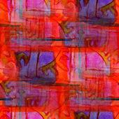 Grunge band blue, purple vanguard texture watercolor seamless, b — Stock Photo