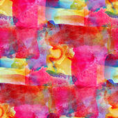 Grunge band pink, blue, yellow, vanguard texture watercolor seam — Stock Photo