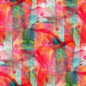 Grunge band red, green vanguard texture watercolor seamless, ban — Stock Photo