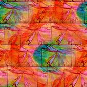 Grunge müzik grubu doku yeşil, turuncu, süsleme suluboya sorunsuz, — Stok fotoğraf