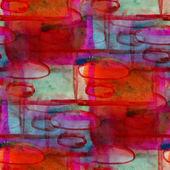 Grunge kapely textury červené, modré, ozdoba akvarel bezešvé, zákaz — Stock fotografie