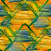 Grunge banda amarilla, verde, ornamento de la textura acuarela transparente, — Foto de Stock
