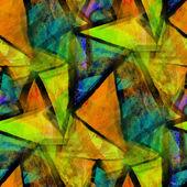 Yellow, blue, mosaic grunge band texture watercolor seamless, ba — Stok fotoğraf
