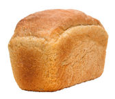 Loaf of bread russian isolated on white background clipping path — Stock Photo