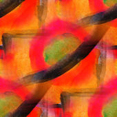 Orange, black grunge texture, watercolor seamless background, vi — Stock Photo
