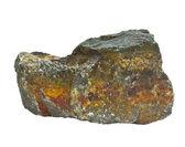 Granite rufous stone isolated on white background (in my portfol — Stock Photo