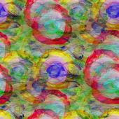 Background green blue red circle ornament watercolor art seamles — Stock Photo