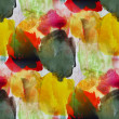 Macro yellow, green, dirt watercolor seamless texture and paint — 图库照片