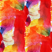 Macro watercolor red, yellow seamless texture paint stains — Stock Photo