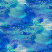 Blue seamless, cubism abstract art Picasso texture watercolor wa — Stock Photo