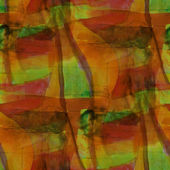 Seamless cubism yellow, green abstract art Picasso texture water — Stock Photo