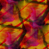 Seamless cubism red yellow abstract art Picasso texture watercol — Stok fotoğraf