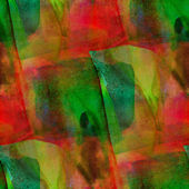 Seamless green, red cubism abstract art Picasso texture watercol — Zdjęcie stockowe