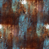 Rusty blue brown iron seamless background seamless background — Stock Photo