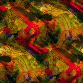 Arte abstracto amarillo, rojo transparente cubismo picasso textura waterco — Foto de Stock