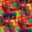 Seamless cubism red, green, yellow abstract art Picasso texture — Stock Photo