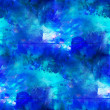 Foto de Stock  : Seamless abstract, art blue texture watercolor wallpaper backgro