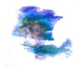 Beyaz bir arka plan üzerinde izole makro mavi nokta leke doku — Stok fotoğraf