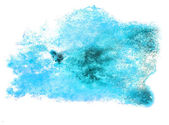 Spot watercolor, blotch blue texture isolated on white backgroun — Stock Photo