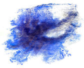 Spot watercolor, blue blotch texture isolated on white backgroun — Stock Photo